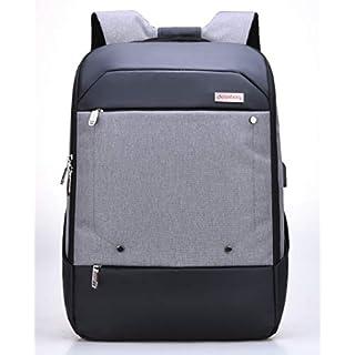 DESSBAG Super Rucksack Herren Damen für 15-17 Zoll Notebooks Backpack Daypacks Schule Wasserdicht Bequem Sport Arbeit AZO frei mit USB Anschluss + Kabel