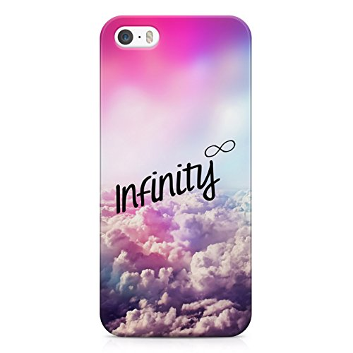 Infinity Tumblr Clouds Indie Hype Hipster Rad Boho Hard Plastic Snap Case Cover For iPhone 5 / iPhone 5s Custodia