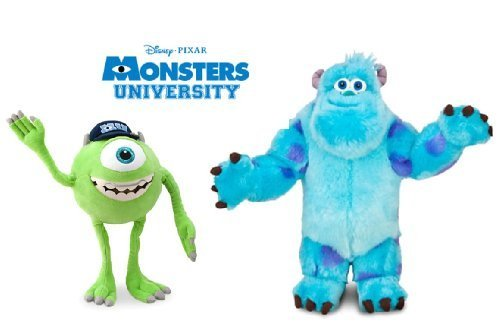 Disney Monsters University LARGE Plush Doll Set With Sulley and Mike Wazowski Stuffed Animal Toys Monsters Inc Sully
