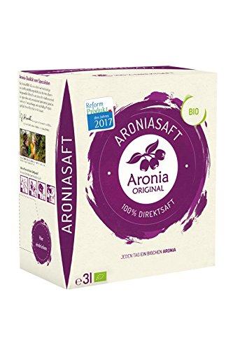 Aronia Original Naturprodukte GmbH 100% Bio Aronia-Muttersaft im Monatspack, 1er Pack (1 x 3 l)