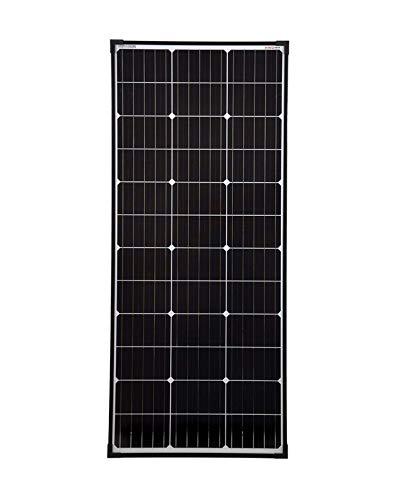 enjoysolar® Mono PERC 110 Watt Solar Modul 12V Solar Panel Monokristallines 110W mit PERC Zellen Wohnmobil, Gartenhäuse, Boot - Solar Modul Panel