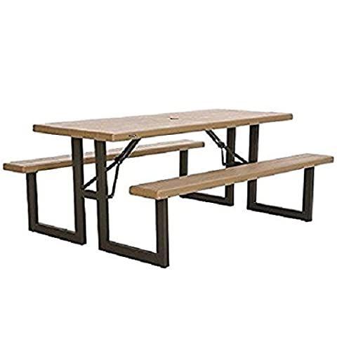 Picnic Bench Table - 8 Seater, Folding, Weather Resistant and Durable. Ideal for the Garden or any Outdoor Setting.
