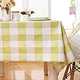 Home's Baumwolle Leinen Waschbar Tischdecke Couchtisch Tischdecke Stoff Rechteckige Abdeckung Tuch Esstisch Wohnzimmer Kleine Frische wasserdichte Tischdecke Für Party140X140CM