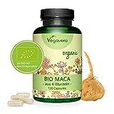 MACA Peruviana BIOLOGICA Vegavero® | L'UNICA con 4 VARIETÀ DI RADICE: Gialla, Rossa, Nera e Viola | 120 capsule | Vegan
