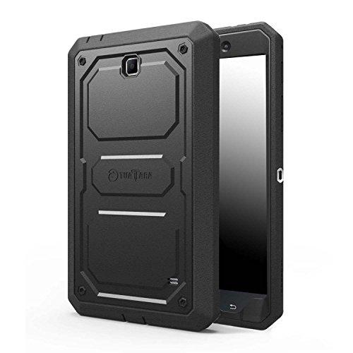 Fintie Samsung Galaxy Tab 4 7.0 Hülle - [Tuatara Serie] Hybrid Dual Layer Vollschutz Case Tasche Schutzhülle mit Integriertem Displayschutz und Schlagfesten Stoßstangen für Samsung Galaxy Tab 4 7.0 SM-T230 / T235 Tablet, Schwarz