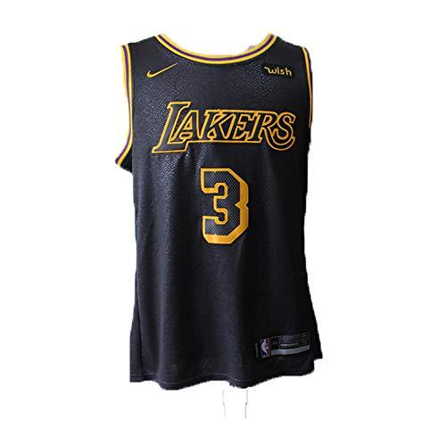 Herren Basketball Trikots NBA Lakers # 3 Anthony Davis Gestickte Mesh Swingman Hemd (L)