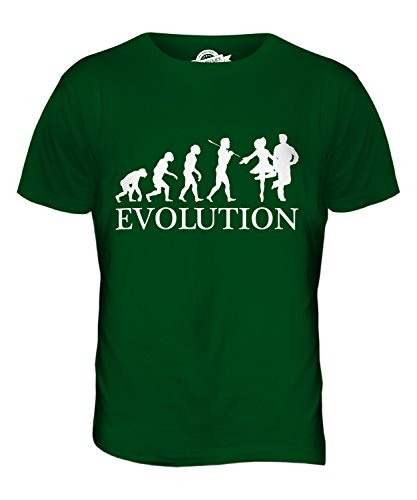 CandyMix Irish Dance Evolution Des Menschen Herren T Shirt Flaschengrün