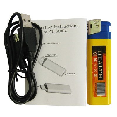 MECHERO CÁMARA OCULTA MICRO SD USB 8GB SPY INDICADOR DE 1280 X 960 AUDIO VÍDEO FOTOS