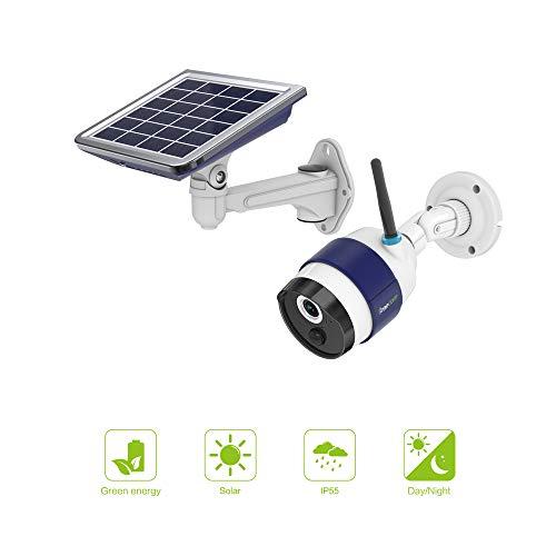 FREECAM Outdoor Solar Kamera Wireless WiFi Home Security Kamera mit Akku PIR Bewegungsmelder Aufladen und Nachtsicht für Smart Home (Wireless Outdoor Security-kamera,)