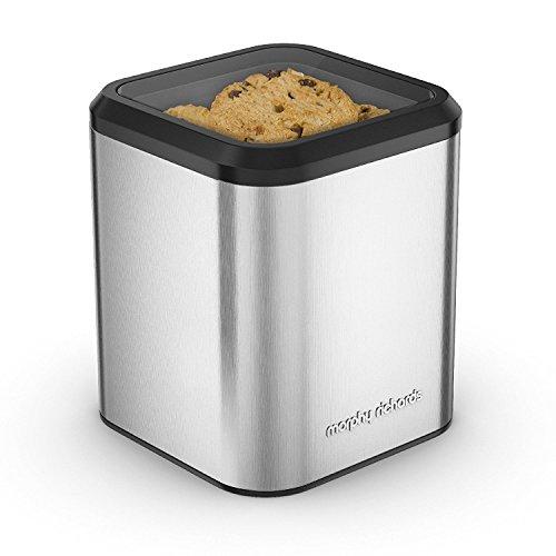 Boîte à biscuits Morphy Richards 970253, en acier inoxydable, argentée