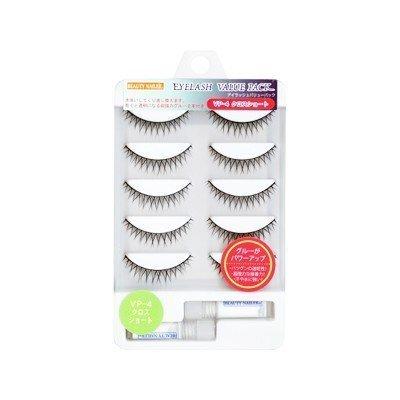 Muraki false eyelashes with 5 pairs Eyelashes Value Pack Cross Short VP-4