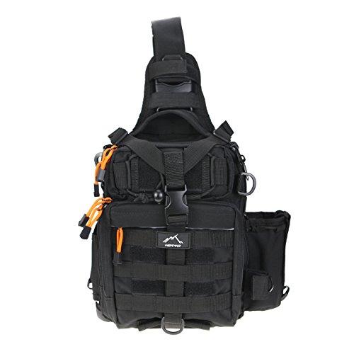 HETTO Tactical Sling Bag MOLLE Rucksack Nylon 1000D Eingurt Schulterrucksack Herren Klein EDC Tasche Schultertaschen Umhängetasche Angeln