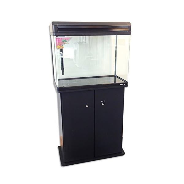 Boyu Aquarium Fish Tank and Cabinet with LED Lighting, 60 cm, Black
