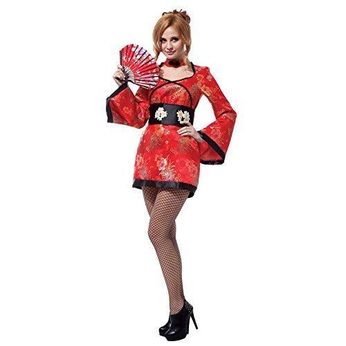 Geisha Mädchen Kostüm Japanisch Chinesisch Orientalisch Kimono Damen Kostüm 8/10/12 (Geisha Kostüme Kleid)
