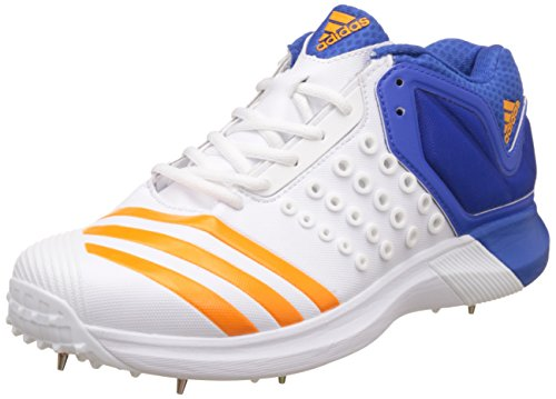 adidas Men's Adipower Vector Mid Ftwwht, Borang and Blue Cricket Shoes - 8 UK/India (42 EU)