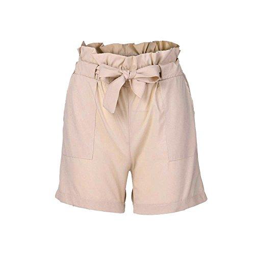 Shorts Damen Sommer Kurze Hosen, Staresen Frauen Elegant Taille Kurze Hose Böhmen Strandhosen Vintage Mini Shorts Sommer Hot Pants Beiläufig Fitness Yoga Sporthosen