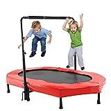 Kinder Trampolin Indoor or Outdoor Kinderklein Rebounder mit Griff (Rot)