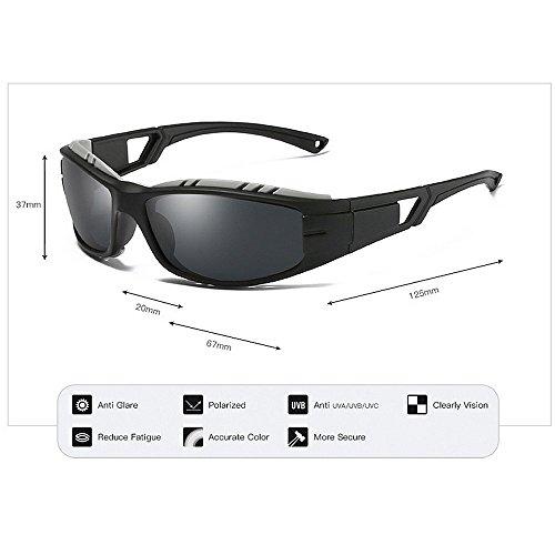 BJYG Sport-Sonnenbrille Persönlichkeit einzigartig bunt Vollformat Outdoor-Sport-Sonnenbrille langlebig polarisierte dunkle Linse UV400-Schutz Anti-Glare-Fahren Radfahren Mountainbike Fahrrad Lau