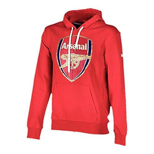 Puma Herren Sweatshirt AFC Fan Hoody High Risk Red M Arsenal Hoody