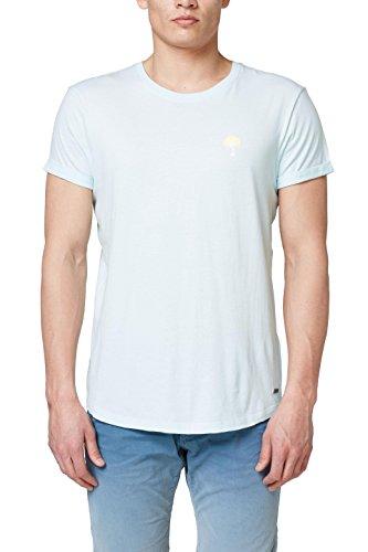 edc by ESPRIT Herren 058CC2K023 T-Shirt, Grün (Light Aqua Green 390), XX-Large -