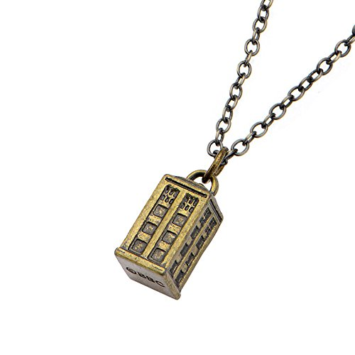 Doctor Who Gold Tardis Charm Pendant Necklace (Blade Doctor)