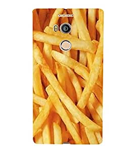 FUSON French Fries Potato Chips 3D Hard Polycarbonate Designer Back Case Cover for Gionee Elife E8