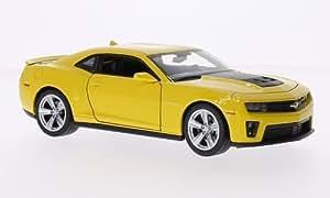 chevrolet camaro zl1 gelb matt schwarz 2012 modellauto. Black Bedroom Furniture Sets. Home Design Ideas
