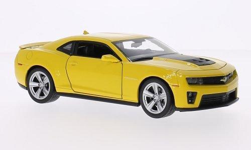 chevrolet-camaro-zl1-amarillo-negro-mate-2012-modelo-de-auto-modello-completo-welly-124