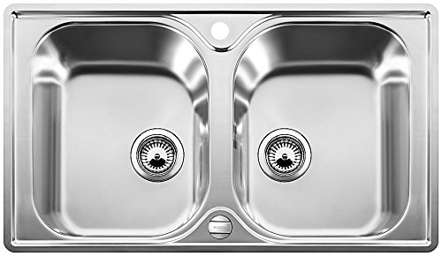 Blanco Lantos 8-IF, Küchenspüle, für normalen und flächenbündigen Einbau, reversibel, Edelstahl Bürstfinish; 519711
