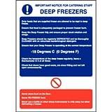 NextDay Cufflinks Catering Up Tief Gefrierschrank Richtlinien Schild