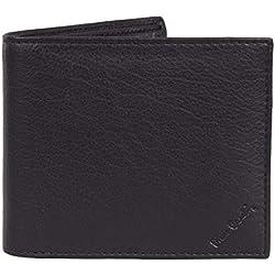 Portefeuille en cuir véritable noir pour homme - Nappa par Pierre Cardin | Blocage RFID | Doux, lisse, durable et infroissable, portefeuille double pliable
