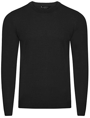 Kensington Eastside Herren Finley Crew Neck Strickjacke Größe M-XXL Black