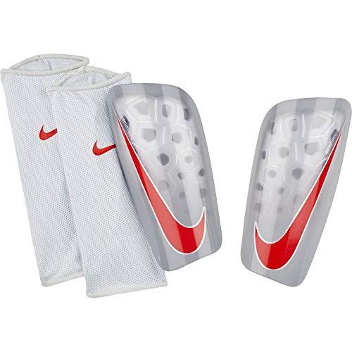 quality design 96495 3a4f2 Nike Mercurial Lite Protège-Tibias de Soccer Mixte Adulte, Pure  Platinum Wolf Grey