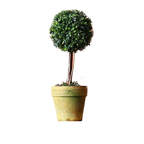 Estyle Fashion Künstliche Pflanze Blumen Topfpflanzen Kunstblumen Blumentopf Plastikpflanze Gefälschte Baum Home Dekoration Grün E