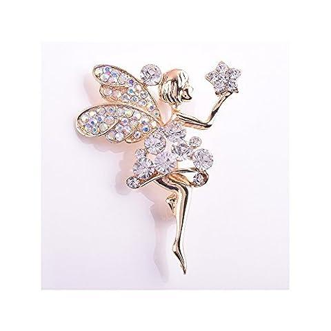 Winter Secret de portée pour étoile Lovely Angle Fille Broche Diamant Accentuée accessoire de mode