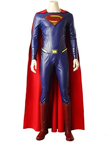 Superman Cosplay Kostüm Kostüm Halloween Kleidung Requisiten Mit Mantel Verkleidung Kostüm The Avengers Costume,Adult-XXL