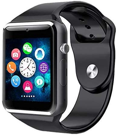 m-fit A1 Bluetooth Smart Watch with Sim Card for All Smart Phones (Black)