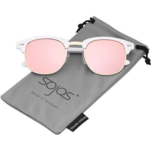 SOJOS Herren Brille Nerdbrille Brillenfassungen Wechselgläser Silikone Nasenpolster SJ5018 (C06...