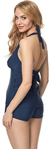Merry Style Tankini per Donna MS10-117 Blu Scuro (6219)