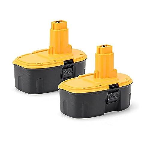 2PCS POWERGIANT 18V 3.0Ah Power Tools Battery for Dewalt DC9096 DE9096 DE9039 DE9095 DE9098 DE9503 DW9095 DW9096 DW9098