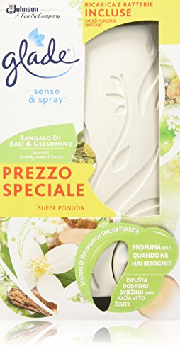 Glade deodorante per ambienti sense & spray diffusore automatico base+ricarica