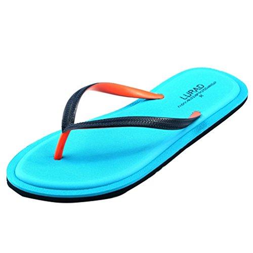 Baymate Donna Infradito Di Peso Leggero Antiscivolo Pantofole Da Spiaggia Sandali Blu