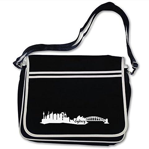 Freizeittasche Sydney Skyline Australien Bag Base® BagBase Retro Messenger 40x30x10cm