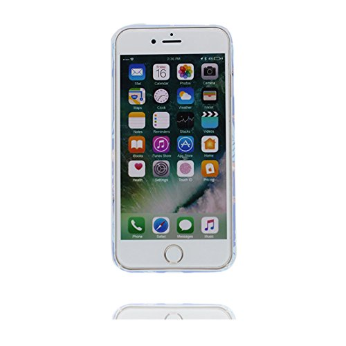 Custodia iPhone 6, iPhone 6s copertura case in Gel TPU Durevole flessibile Hard Cover iPhone 6S Case Graffi Resistenti - fiore Color 3