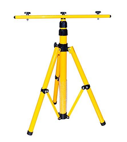 Trépied pour projecteur LED, projecteur halogène, projecteur de chantier, etc. réglable en hauteur jusqu'à 1,60m, jaune