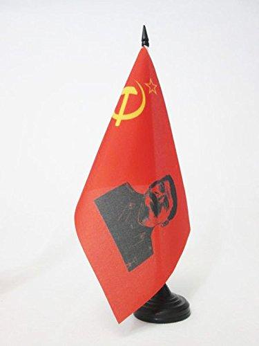 AZ FLAG TISCHFLAGGE SOWJETUNION UDSSR MIT Stalin 21x14cm - Kommunismus TISCHFAHNE 14 x 21 cm - Flaggen