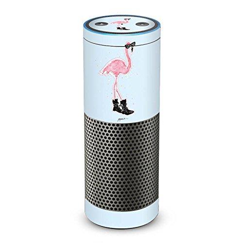 DeinDesign Amazon Echo Plus Folie Skin Sticker aus Vinyl-Folie Flamingo Cool Sonnenbrille