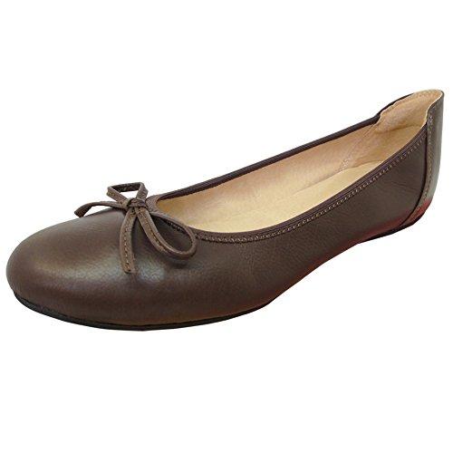Baideng Neuheiten Schuhe Echtleder Zum Klappen Ballerinas Preis Günstige Einfach Perfekt Braun 41 6192-2 (Ballerina Einfache)