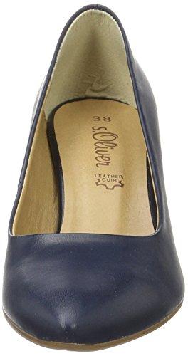 s.Oliver 22402, Scarpe con Tacco Donna Blu (NAVY 805)