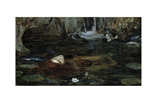 J. W. Waterhouse - Study: Nymphs Finding the Head of Orpheus Print 60x91.5cm -